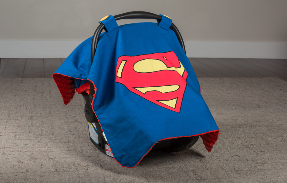 Superman Car Seat Canopy