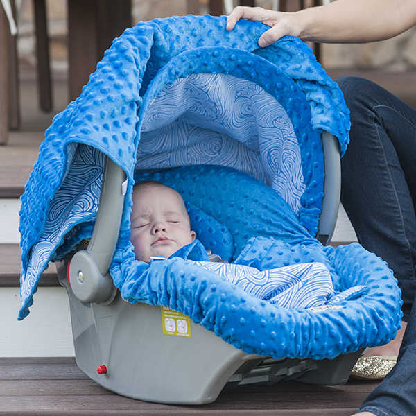 Carseat Canopy Noa Baby Infant Car Seat Cover W//attachment Straps and Minky Fabric