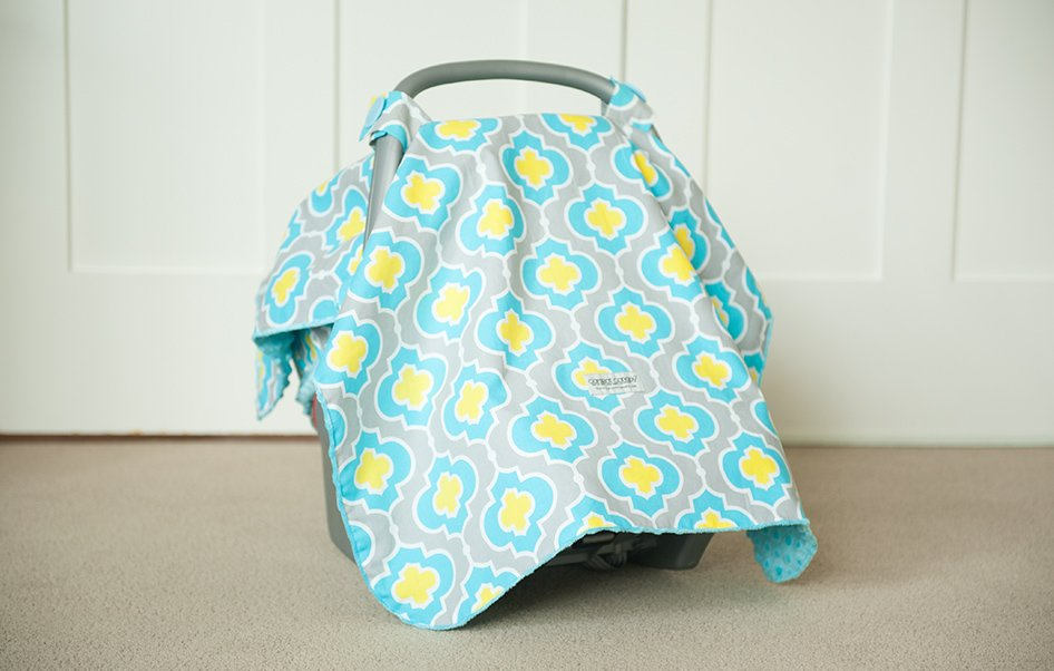 Infant Car Seat Blanket Canopy